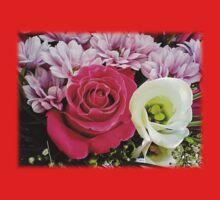 Pink rose in bouquet 4 Kids Tee