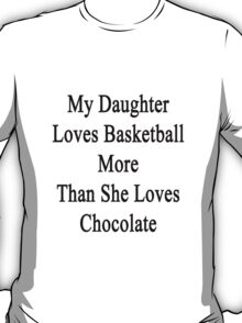 My Daughter Loves Basketball More Than She Loves Chocolate  T-Shirt