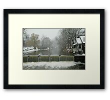 Winter by the falls Framed Print