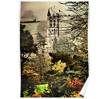 Church Through The Trees Poster