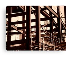 Steel Frame Construction Canvas Print