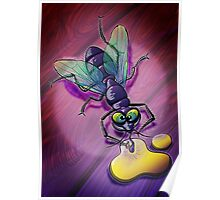 Naughty Smiling Fly Poster