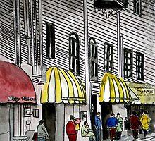 Savannah River Street cityscape painting 4 by derekmccrea