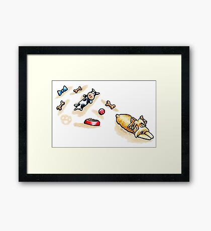 Yorkie Good Day Play Framed Print
