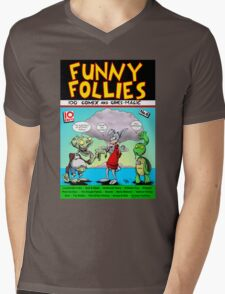 Funny Follies Mens V-Neck T-Shirt