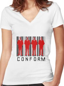 CONFORM! Women's Fitted V-Neck T-Shirt