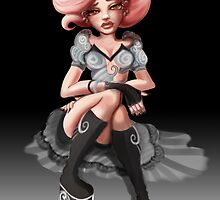 Pink Hair Big Boots Card :) by Erica Rosario