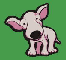 Cute EBT Puppy Baby Pale Pink  Kids Tee