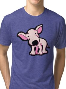 Cute EBT Puppy Baby Pale Pink  Tri-blend T-Shirt