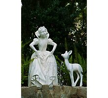 Snow White Wishing Photographic Print