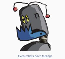 Even Robots have feelings Baby Tee