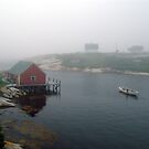 Foggy Day in Peggy&#x27;s Cove (1) by George Cousins
