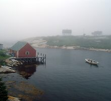 Foggy Day in Peggy's Cove (1) by George Cousins