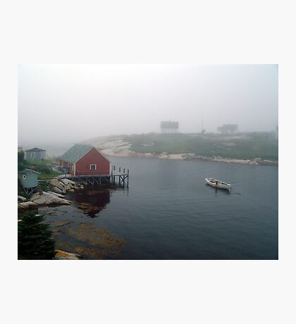 Foggy Day in Peggy's Cove (1) Photographic Print