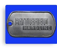 Battlefield Hardline Dogtag Canvas Print