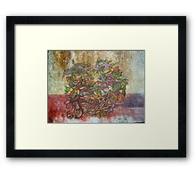Old Church graffiti Framed Print