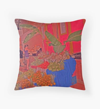 Tropical Passion Throw Pillow