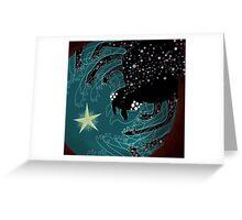 Spider Galaxy Greeting Card