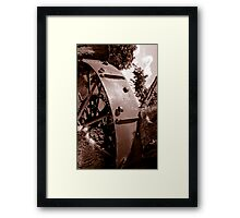 Spoken Wheel in Stump Framed Print