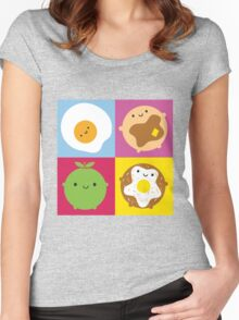 Kawaii Breakfast Women's Fitted Scoop T-Shirt