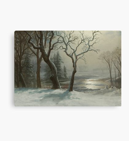 Albert Bierstadt - Winter in Yosemite Painting Photograph Canvas Print