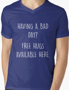 Bad Day? Free Hugs Mens V-Neck T-Shirt