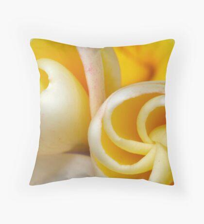 frangipani buds Throw Pillow