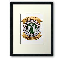 White Pines Bay Sheriff Framed Print