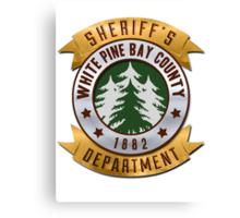 White Pines Bay Sheriff Canvas Print