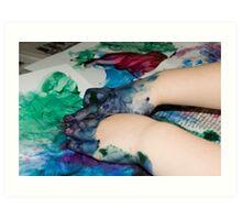 Finger painting Art Print