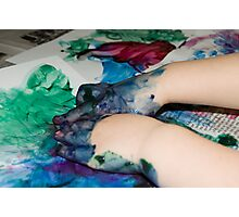 Finger painting Photographic Print