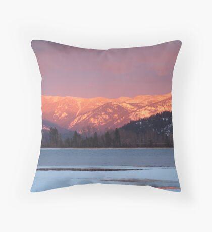 The Alpenglow Throw Pillow