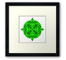 """Spirit of India: Blossom - Gothic Flower"" in emerald green Framed Print"