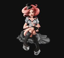Pink Hair Big Boots Womens Fitted T-Shirt