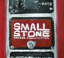 Radiohead Small Stone Guitar Pedal Fine Art Print Of Acrylic Painting by JamesPeart