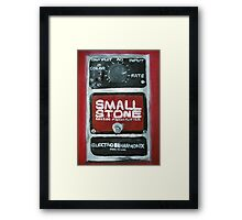 Radiohead Small Stone Guitar Pedal Fine Art Print Of Acrylic Painting Framed Print