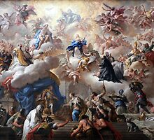 1710-15 de Matteis Triumph of the Immaculate Anagoria Painting Photograph by tshirtdesign