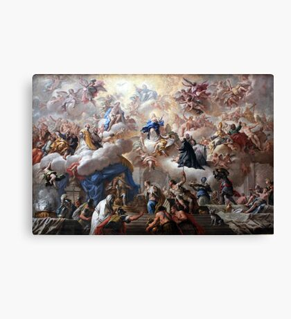 1710-15 de Matteis Triumph of the Immaculate Anagoria Painting Photograph Canvas Print