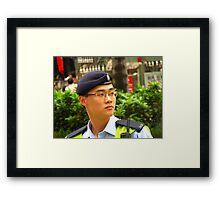 Security Detail Framed Print
