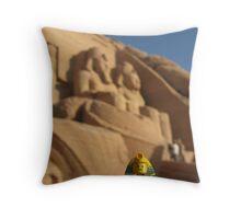 Gepsut and Abu Simbel Throw Pillow