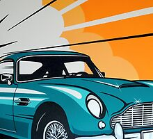 Aston Martin DB5 by jamieleeart