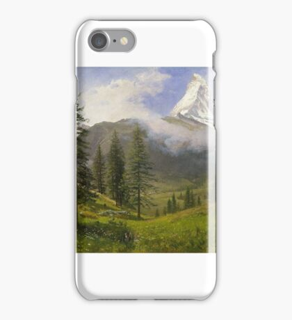 Albert Bierstadt - Matterhorn Painting Photograph iPhone Case/Skin