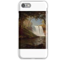 Albert Bierstadt - Minnehaha Falls Painting Photograph iPhone Case/Skin
