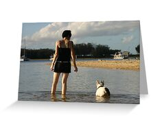 shallow waters Greeting Card