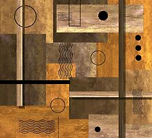 Contemporary Abstract Earthtones by Peggy Garr