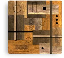 Contemporary Abstract Earthtones Canvas Print