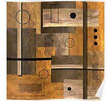 Contemporary Abstract Earthtones Poster