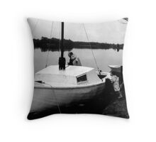 The Fisherman and Child Throw Pillow