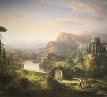Dream of Italy, oil on canvas painting by William Louis Sonntag, 1859 Painting Photograph by tshirtdesign
