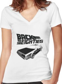 Back To The Eighties Women's Fitted V-Neck T-Shirt